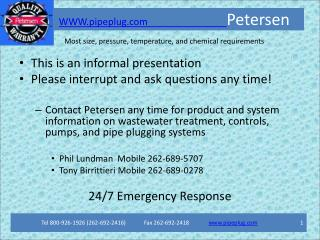 WWW.pipeplug Petersen