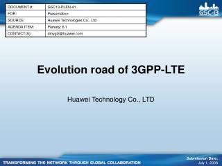 Evolution road of 3GPP-LTE