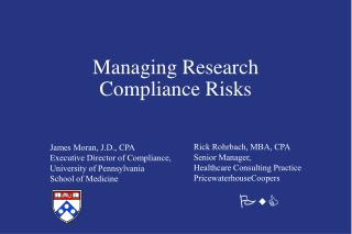 Managing Research Compliance Risks