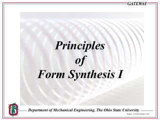 Principles  of  Form Synthesis I