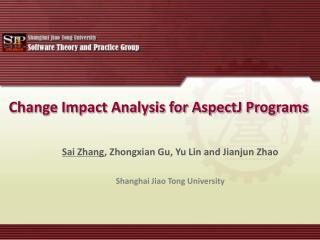 Change Impact Analysis for AspectJ Programs