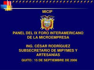 QUITO: 15 DE SEPTIEMBRE DE 2006