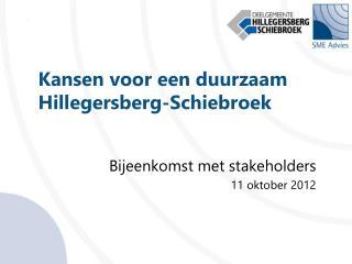 Kansen voor een duurzaam Hillegersberg- Schiebroek