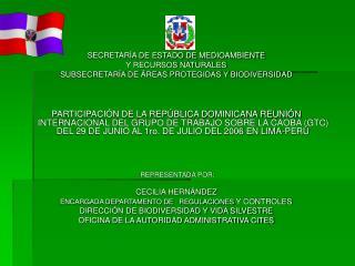 SECRETARÍA DE ESTADO DE MEDIOAMBIENTE  Y RECURSOS NATURALES