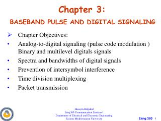 Chapter 3:  BASEBAND PULSE AND DIGITAL SIGNALING