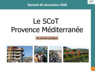 Le SCoT Provence Méditerranée