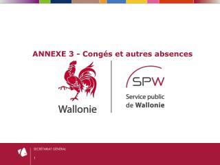 ANNEXE 3 - Congés et autres absences