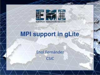 MPI support in gLite