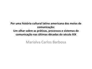 Marialva Carlos Barbosa