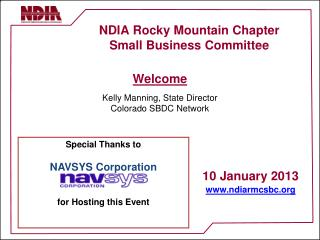 NDIA Rocky Mountain Chapter Small Business Committee