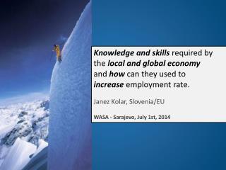 Social Capital Convergence Janez Kolar, Slovenia/EU WASA - Sarajevo, July 1st, 2014