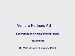 Venture Partners AS
