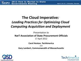 Presentation to Nat'l Association of State Procurement Officials 17 April 2012