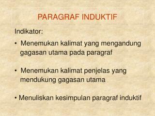 PARAGRAF INDUKTIF