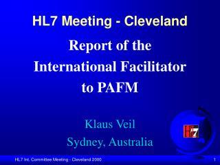 HL7 Meeting - Cleveland
