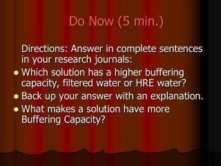 Do Now (5 min.)
