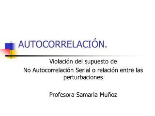 AUTOCORRELACIÓN.