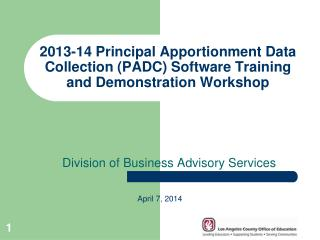 Division of Business Advisory Services