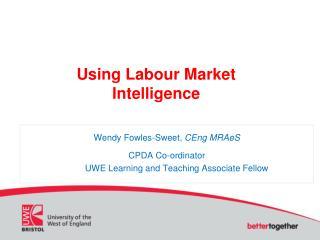 Using Labour Market Intelligence
