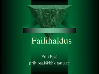 Failihaldus