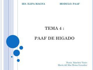 TEMA 4 : PAAF DE HIGADO