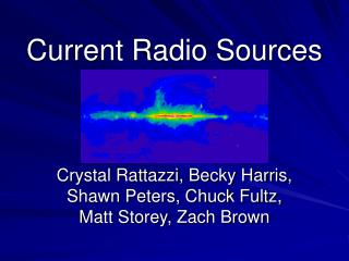 Current Radio Sources