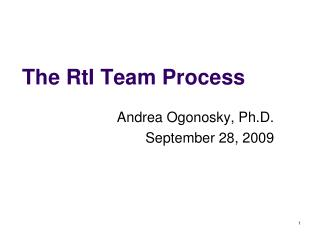 The RtI Team Process