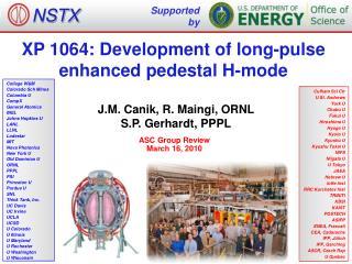 XP 1064: Development of long-pulse enhanced pedestal H-mode