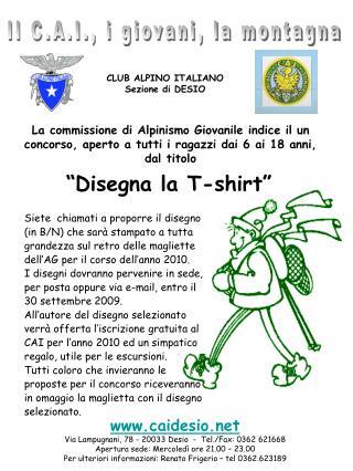 CLUB ALPINO ITALIANO Sezione di DESIO