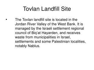 Tovlan Landfill Site