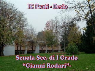 """Scuola Sec. di I Grado """"Gianni Rodari""""-"""