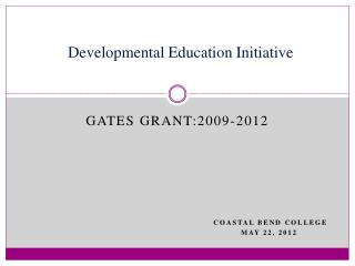 Developmental Education Initiative