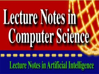 Lecture Notes in Computer Science