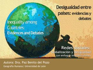 Desigualdad entre países : evidencias y debates