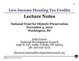 Low-Income Housing Tax Credits