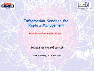 Information Services for Replica Management