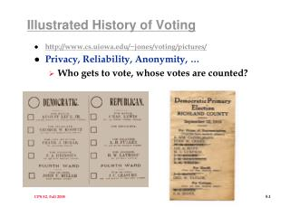 Illustrated History of Voting