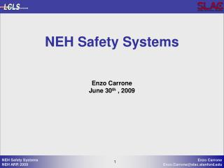 NEH Safety Systems
