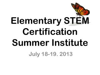 Elementary STEM Certification Summer Institute