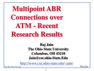 Multipoint ABR Connections over ATM - Recent Research Results