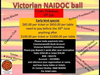 Victorian NAIDOC ball