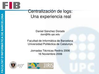 Centralización de Logs: Presentación
