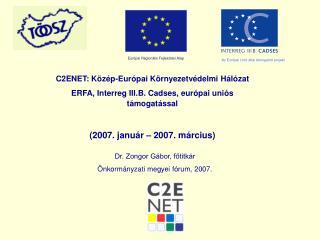 C2ENET: Közép-Európai Környezetvédelmi Hálózat