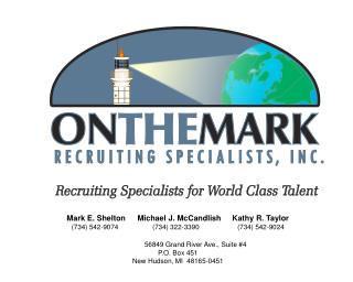 Recruiting Specialists for World Class Talent