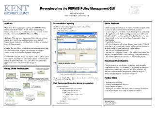 Re-engineering the PERMIS Policy Management GUI