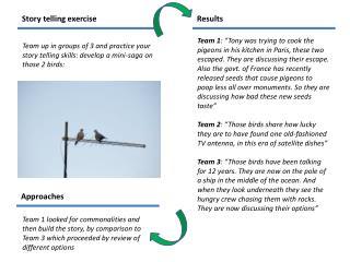 Story telling exercise