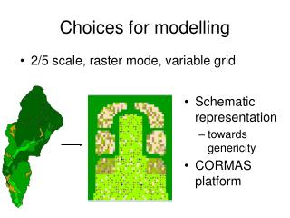 Choices for modelling