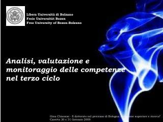 Libera Università di Bolzano Freie Universit ä t Bozen
