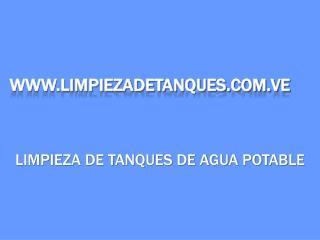 WWW.LIMPIEZADETANQUES.COM.VE