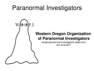 Paranormal Investigators